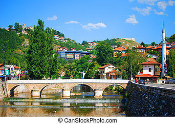 Sarajevo the capital of Bosnia and Herzegovina in the...