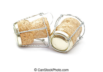 Cortical champagne corks - Three Cortical champagne corks on...