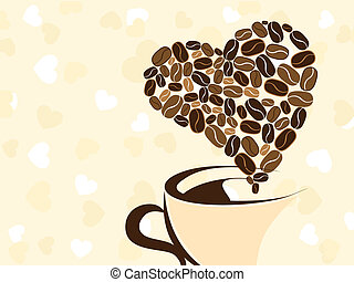 Coffee for your loved one. Vector illustration. - Coffee for...