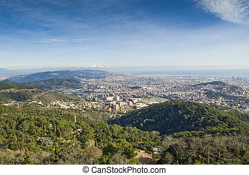 Barcelona - Views of Barcelona from Tibidabo Park (Spain)