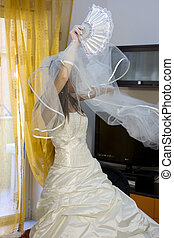 Spouses - Photo of elegant bride in white