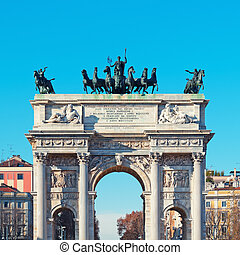 Arch of Peace Arco della Pace in Milan