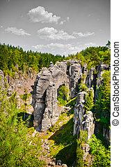 Cesky raj sandstone cliffs, Czech Republic - Cesky raj...