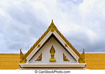 Wat phra sri mahathat - Roof of Wat phra sri mahathat in...