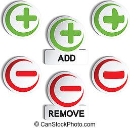 Vector add remove item - plus, minus