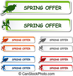 Vector notice board - spring offer label