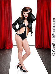 woman model in bathing suit