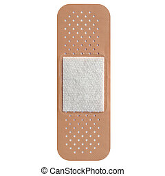Adhesive bandage - Band aid isolated over a white background