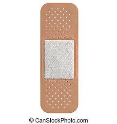 Adhesive bandage - Band aid isolated over a white background