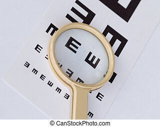 Sight Examination - Chart for sight check
