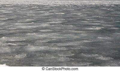 sludge - frazil ice on the sea surface