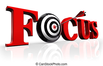 focus red word and conceptual target with arrow reflect on...