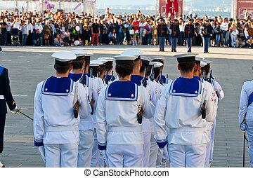 Sailors in uniform