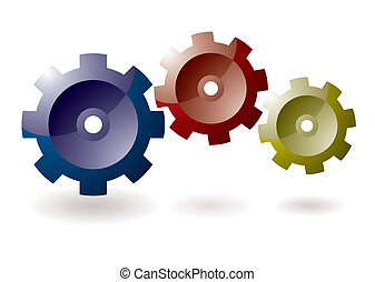 Gear cog icon - Gear cog concept for icon symbol with shadow