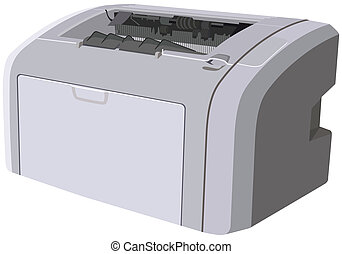 Laser printer device. Illustration in vector format EPS