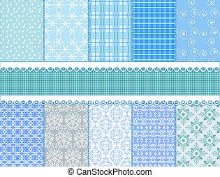 set flower vector paper for scrapbook - illustration set...