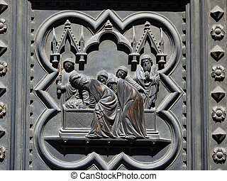 Florence Baptistery - South Portal by Andrea Pisano- 1336...