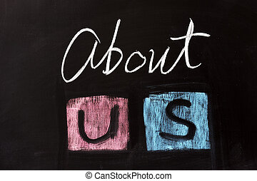 About us - Chalk drawing - About us