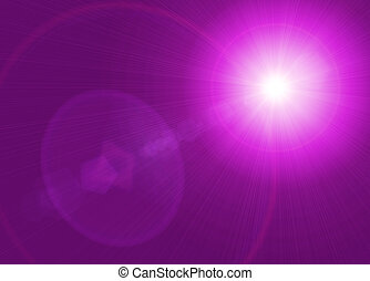 star magical background with rays of light