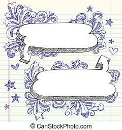 Speech Bubbles Sketchy Doodles - Hand-Drawn 3D Speech...