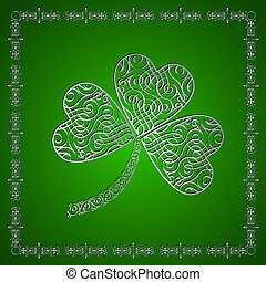 Shamrock- jewelry.Creative vector for St. Patrik`s day