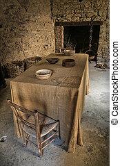 Interior Castle of Bardi. Emilia-Romagna. Italy.