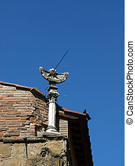 Florence - The sundial on Ponte Vechio