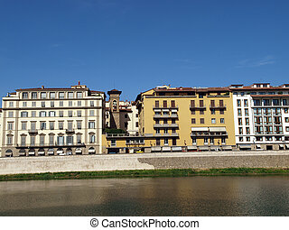 Florence - buildings along the Arno River