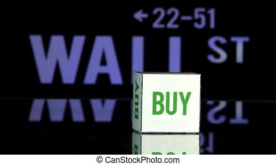 Wall st, bye - sell - Rolling dice, two throws Bye and Sell...