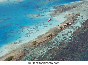 Waters of Aruba - The clear, blue waters of Aruba, South...