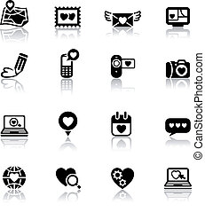 Set valentine's day icons, love