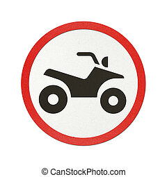 Traffic sign recycled paper - ATV traffic sign recycled...