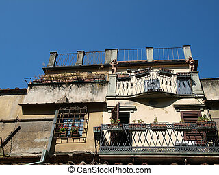 Florence - old building nerby Ponte Vechio