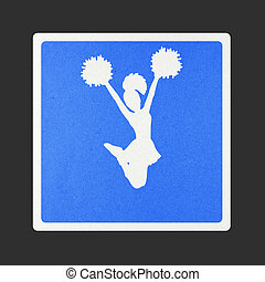 Traffic sign recycled paper - Cheerleader traffic sign...