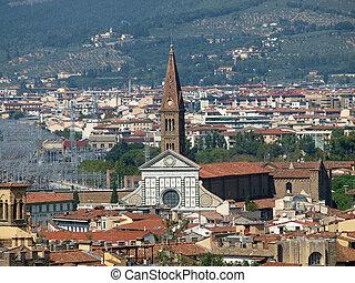 Florence -The Santa Maria Novella seen from the Boboli...