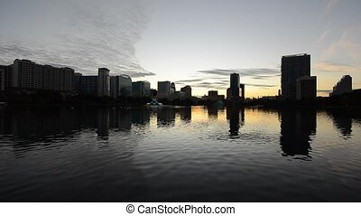 Orlando - Skyline of Orlando Florida from Lake Eola