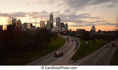 Charlotte Cityscape - View of Charlotte, north Carolina