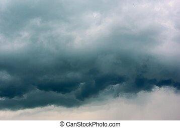 Thunderclouds background - Heavy leaden thunderclouds sky...