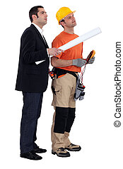 An architect and his electrician.