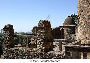 Castle in Ethiopia - The palace of Fasilidas in Gondar, in...