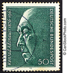 Postage stamp Germany 1976 Konrad Adenauer, Chancellor -...