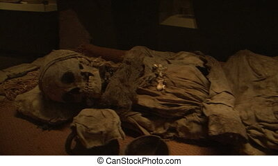The corpse, the mummy of a man, the remains
