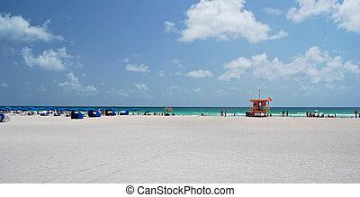 miami beach panorama - panorama view of miami beach