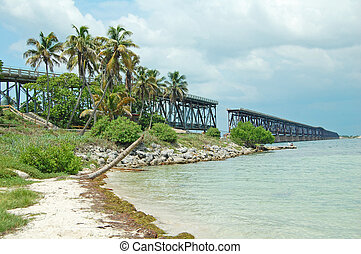 Bahia Honda Flagler Railway - view of the Flagler Railway...