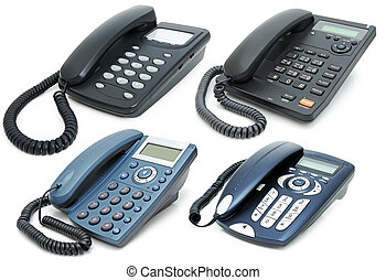 Digital phones with liquid-crystal display and speakerphone...