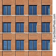 facade of modern bulding with windows - facade of modern...