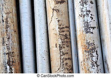 Rusted Old Metal Pipes - close up of rusted old pipes...