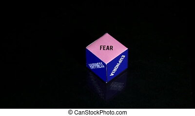 Cube, emotions - Emotions, concept cube, purple and blue