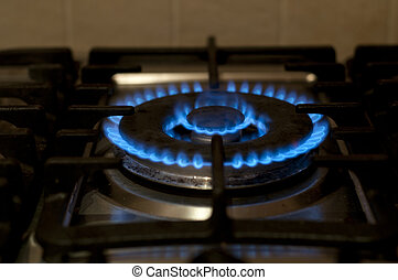 Gas Burner - Gas burner on a stove