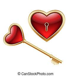 key and heart